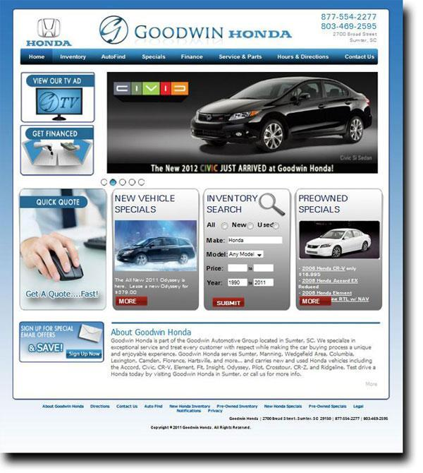 auto websites large